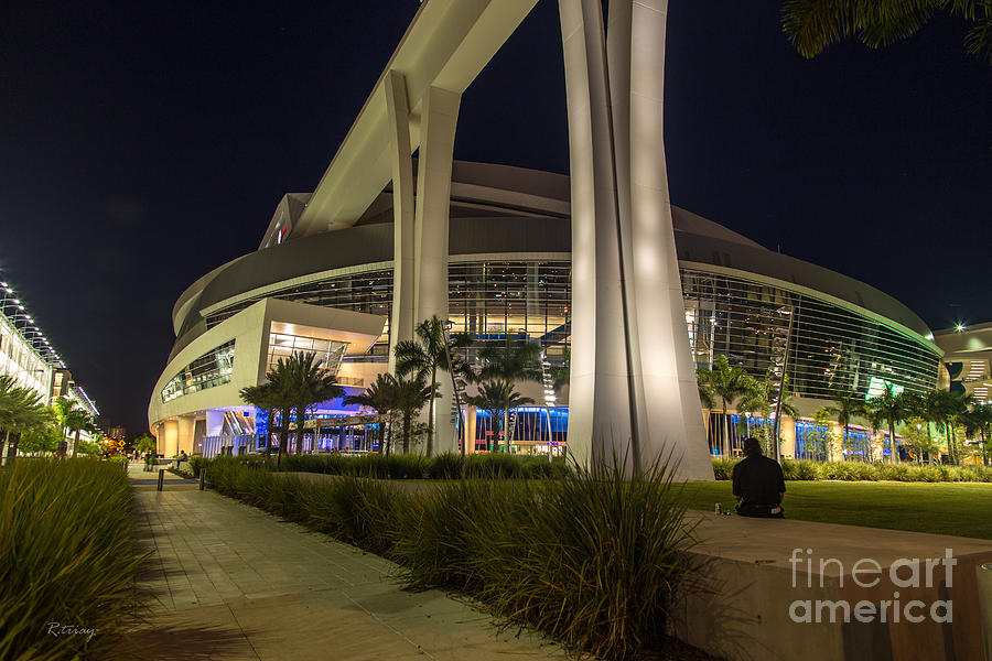 Miami Marlins Photograph - Marlins Park Stadium Miami 3 by Rene Triay Photography