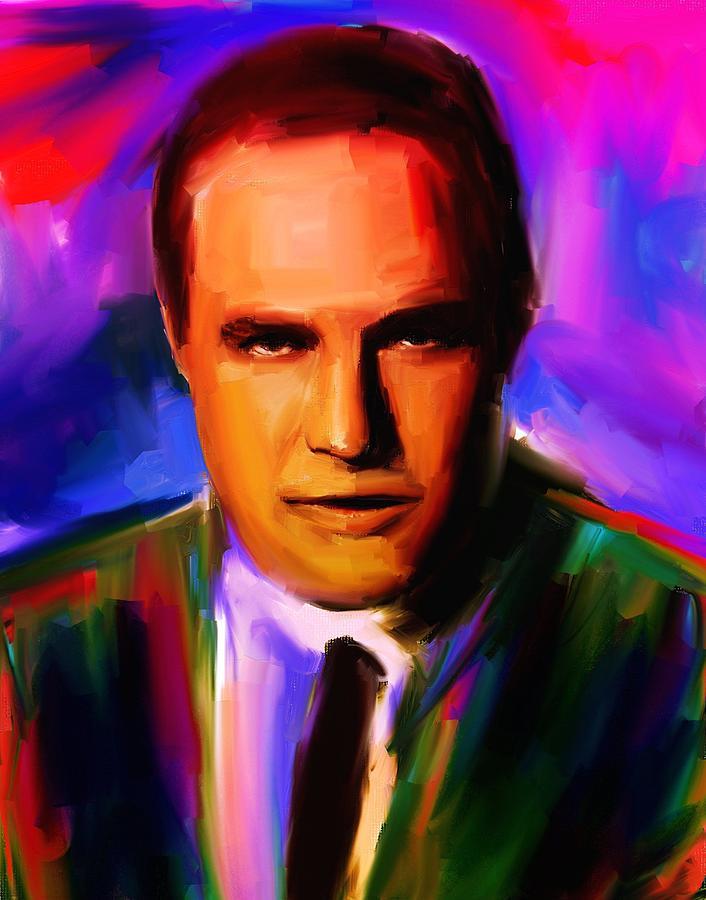 Celebrities Painting - Marlo Brando by Bogdan Floridana Oana