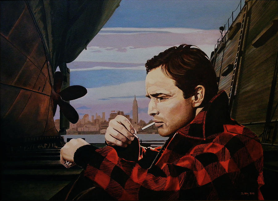 Celebrity Painting - Marlon Brando - On The Waterfront by Jo King
