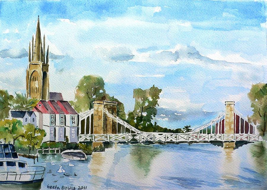 Marlow Painting - Marlow On Thames 2 by Geeta Biswas