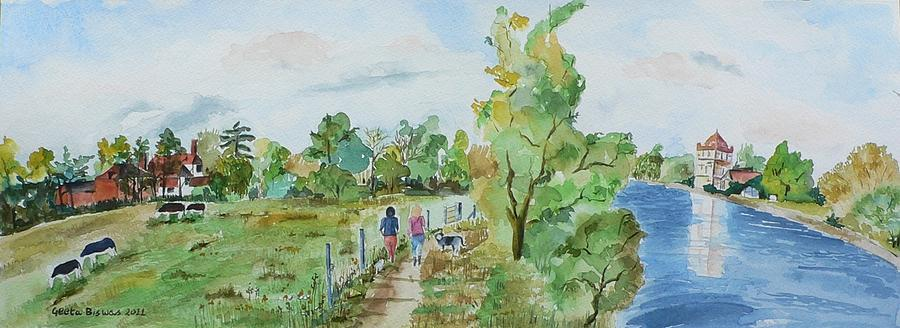 Featured Painting - Marlow On Thames 3 by Geeta Biswas