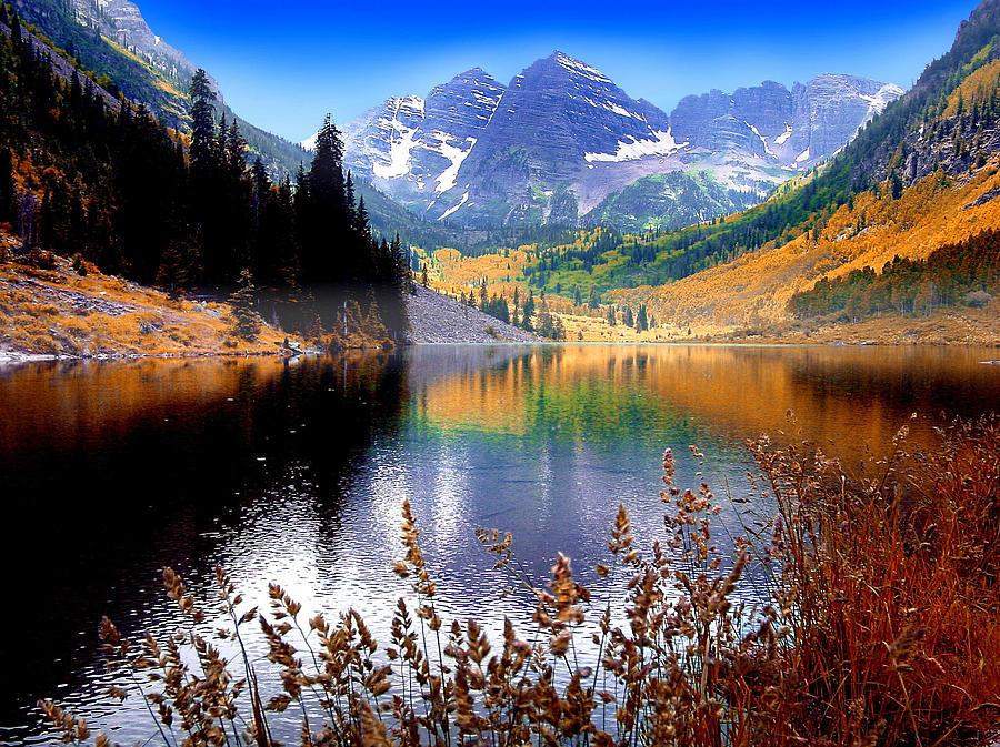 Maroon Bells at Maroon Lake by John Hoffman