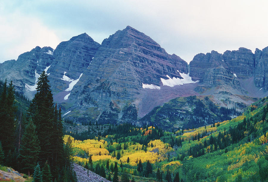 Maroon Bells In Fall Photograph by Adventure photo