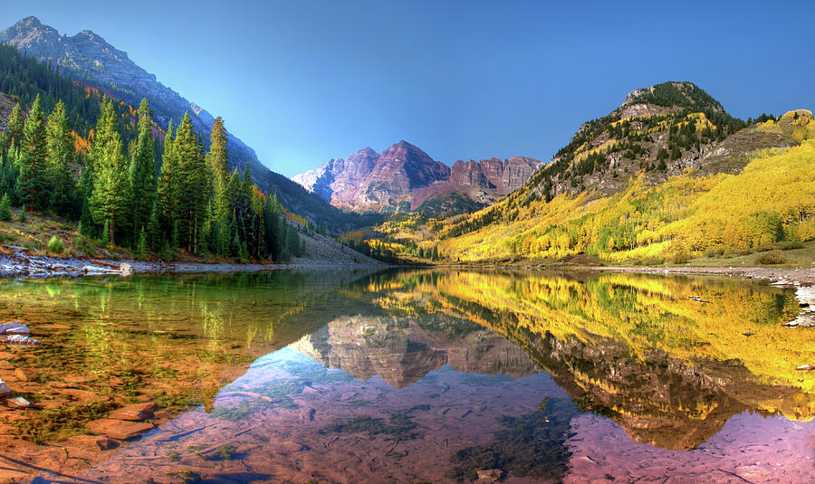 Maroon Bells In Fall Photograph by Dave Soldano Images