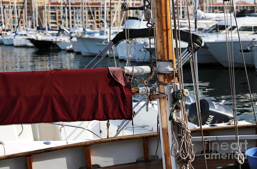 Maroon Photograph - Maroon Sail  by John Rizzuto