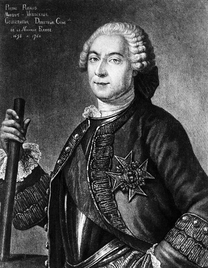 18th Century Painting - Marquis De Vaudreuil (1698-1778) by Granger