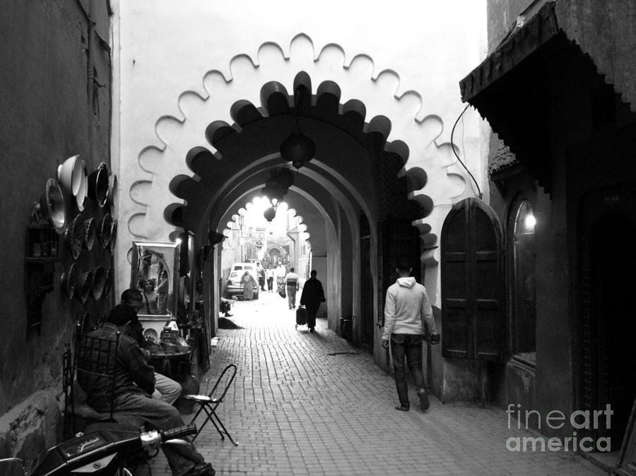 Marrakesh Photograph - Marrakesh Medina by Sophie Vigneault