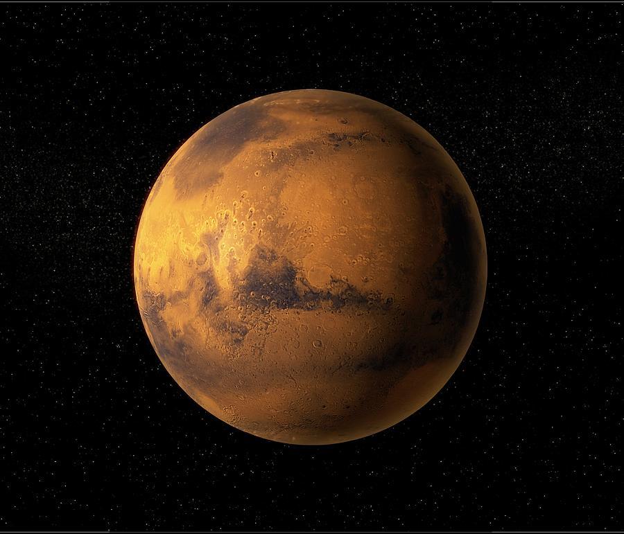 Mars, Artwork Digital Art by Science Photo Library - Andrzej Wojcicki