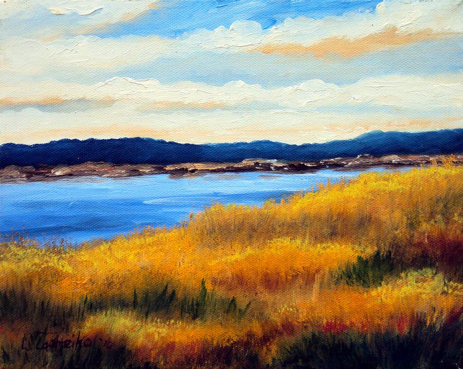 Ocean Painting - Marsh 3 by Laura Tasheiko