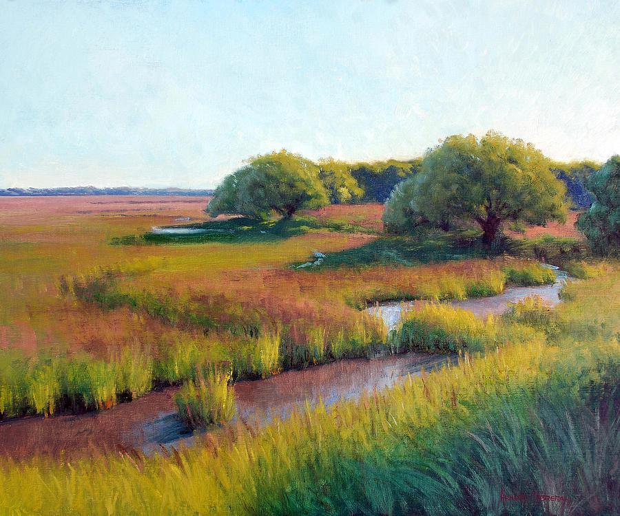 Marsh Painting - Marsh Edge by Armand Cabrera