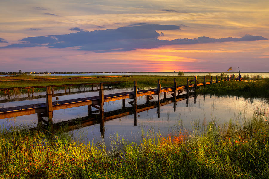 Clouds Photograph - Marsh Harbor by Debra and Dave Vanderlaan