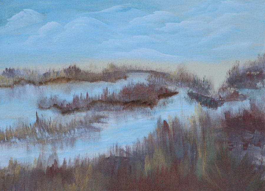 Marsh Painting - Marsh Land by Mary Grabill