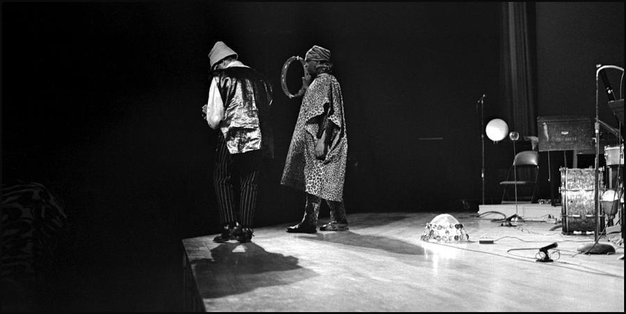 Sun Ra Arkestra At Freeborn Hall Photograph - Marshall And Sonny 1968 by Lee  Santa