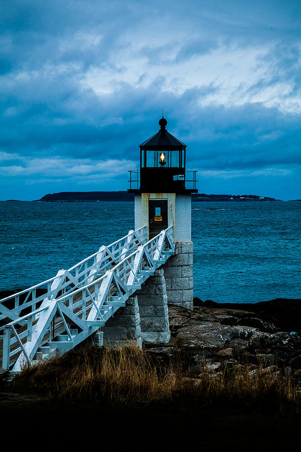 Marshall Point Light at Dusk 1 by David Smith