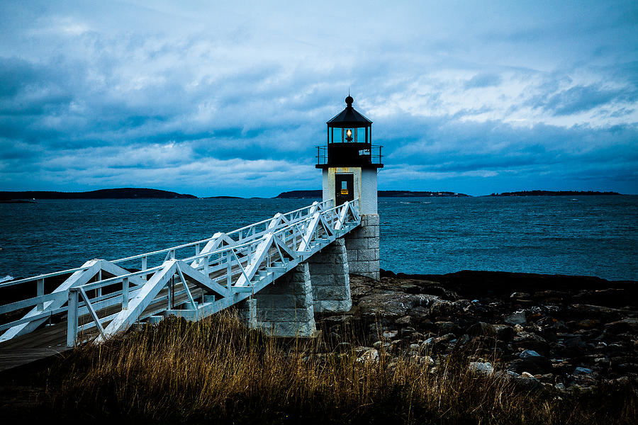 Marshall Point Light at Dusk 2 by David Smith