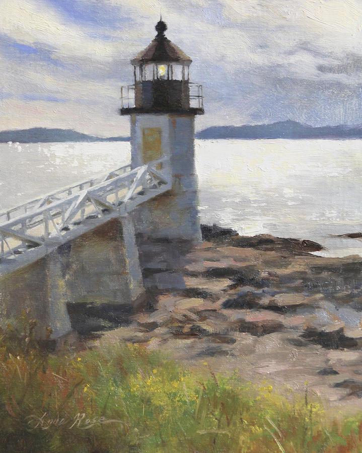 Lighthouse Painting - Marshall Point Lighthouse by Anna Rose Bain