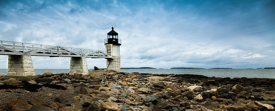 Vacationland Photograph - Marshall Point Lighthouse Panoramic by David Smith