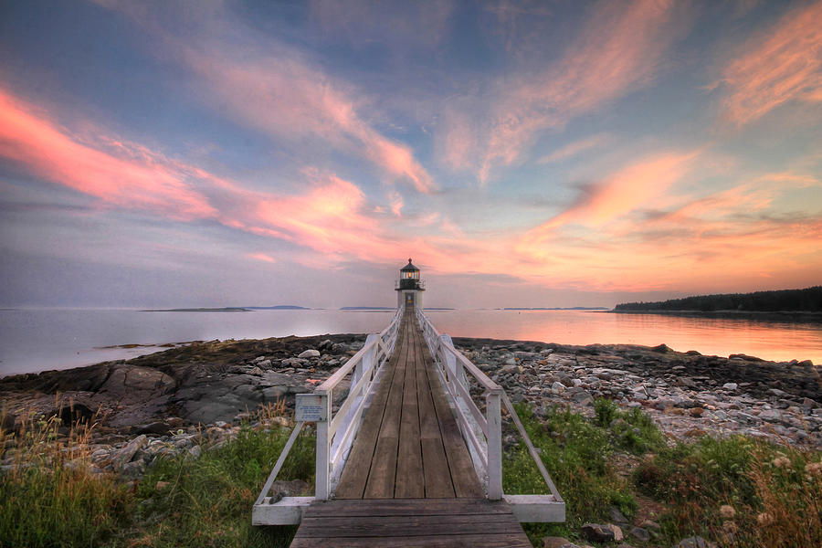 Lighthouse Photograph - Marshall Point Sunset by Lori Deiter