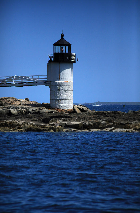 Lighthouse Photograph - Marshall Point Surrounded By Blue by Karol Livote