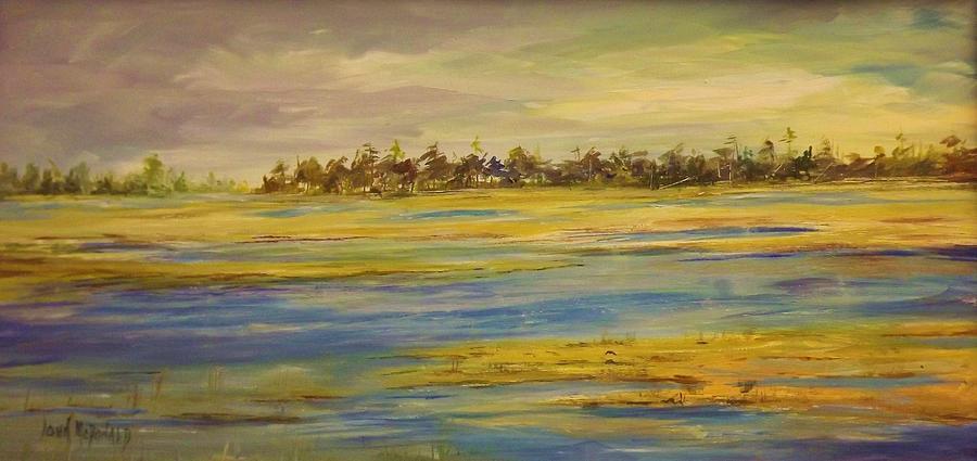 Saltmarshes Painting - Marshland Jackson County by John McDonald
