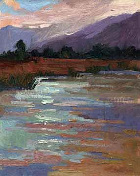 Plein Air Painting Painting - Marshlands  No 1611 by Billups Fine Art