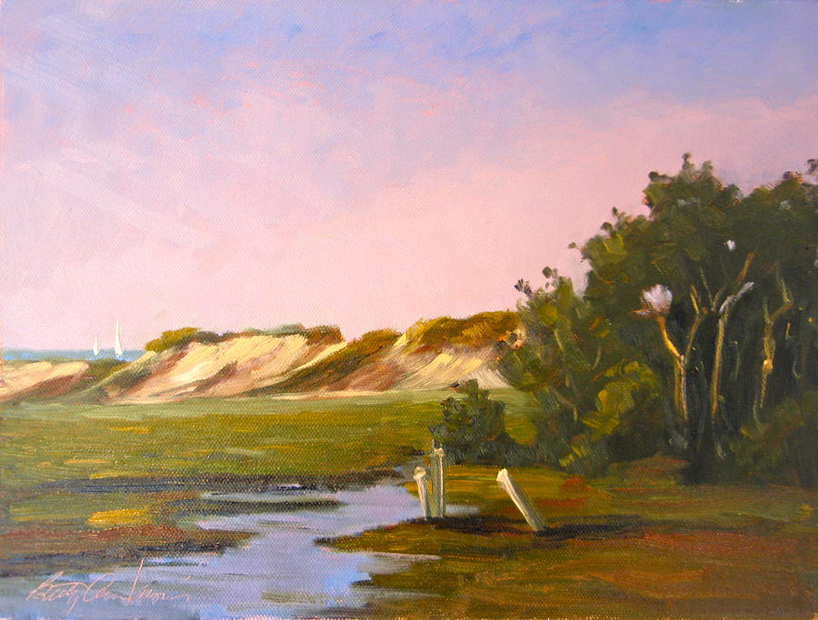 Provincetown Painting - Marshlands Plymouth Landing by Betty Ann Morris