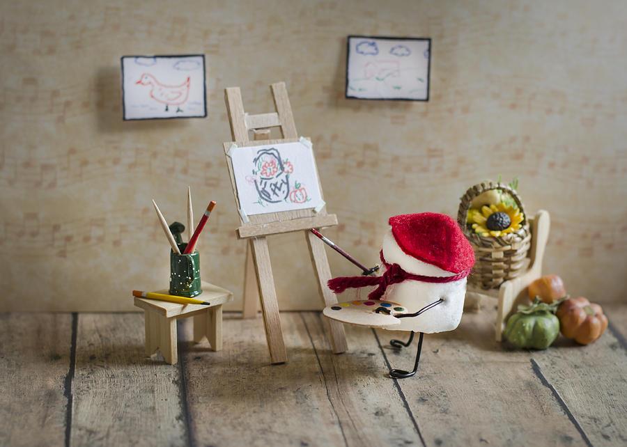 Painter Photograph - Marshmallow Masterpiece by Heather Applegate