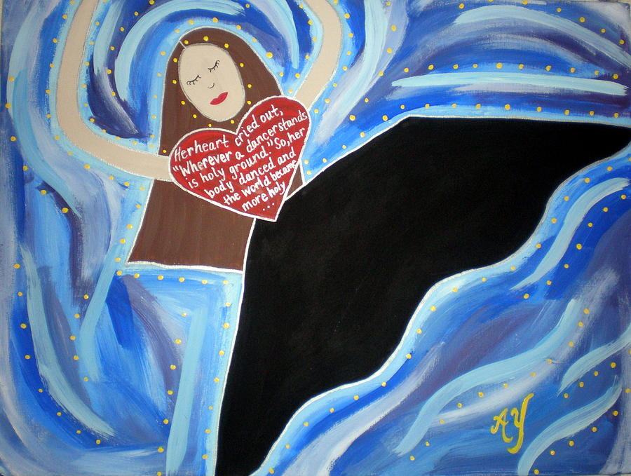 Icon Painting - Martha Graham by Angela Yarber