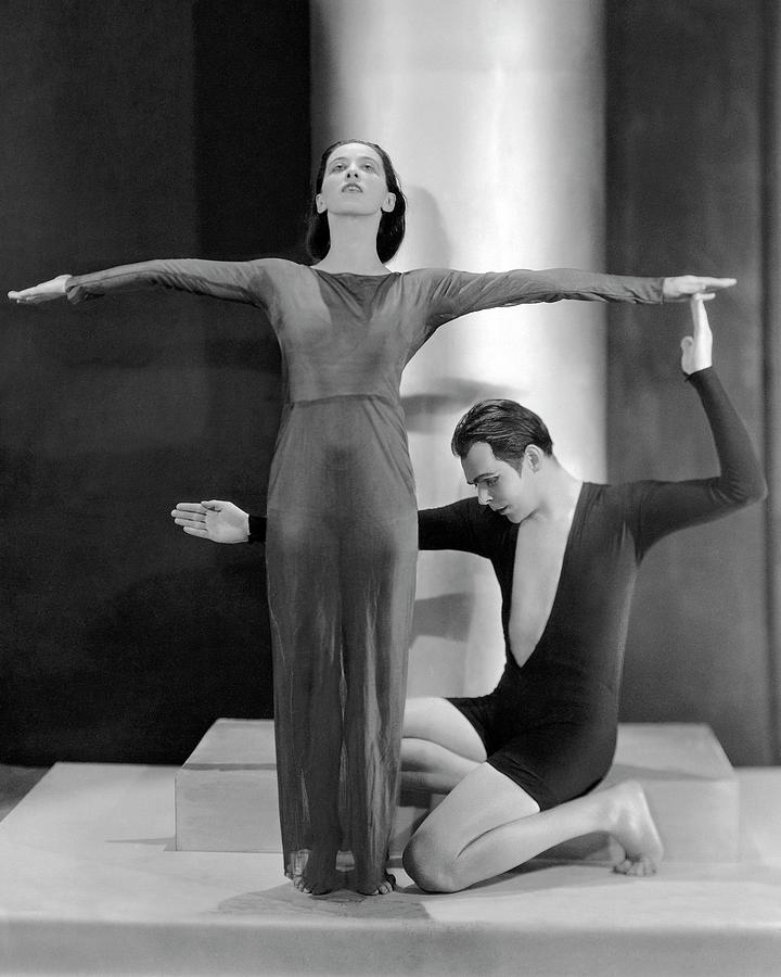 Martha Graham Posing With Charles Weidman Photograph by Nickolas Muray