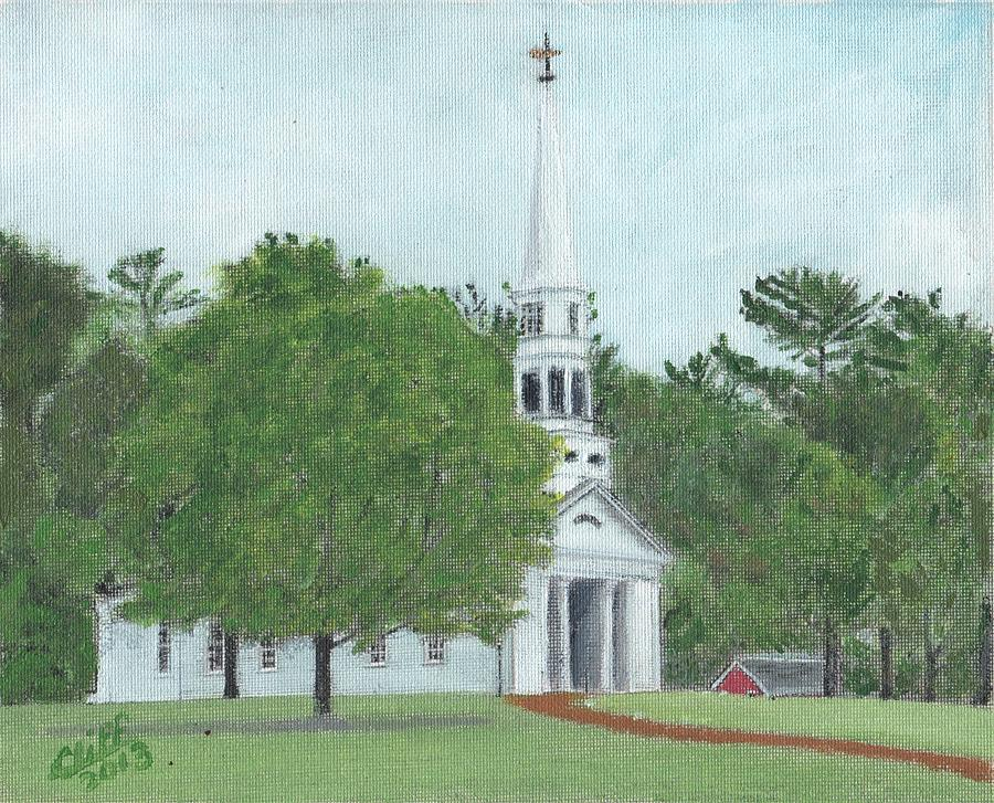 Green Painting - Martha Mary Chapel by Cliff Wilson