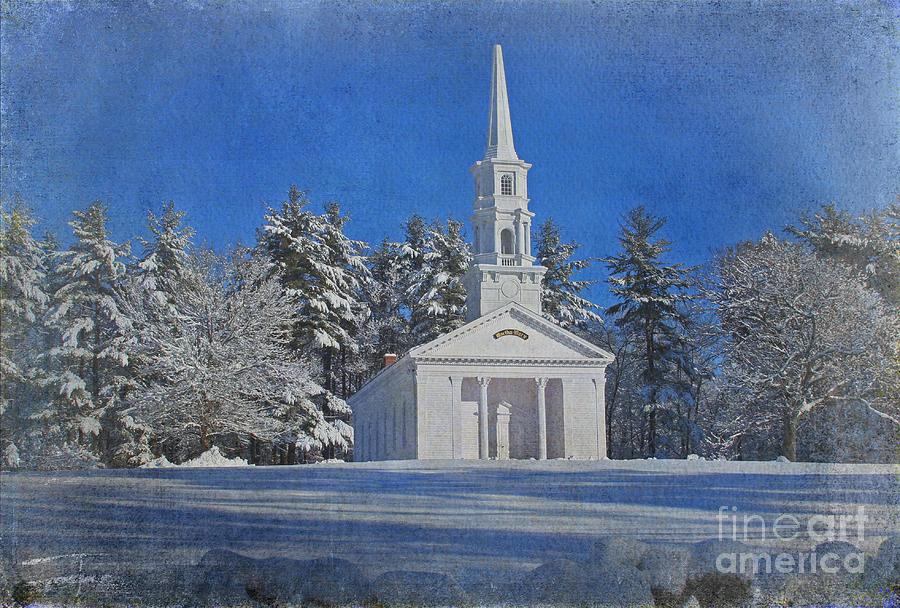 Chapel Photograph - Martha Mary Chapel In Winter by Jayne Carney