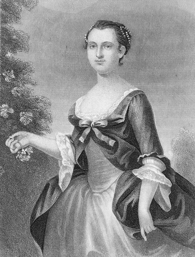 1757 Painting - Martha Washington (1732-1801) by Granger