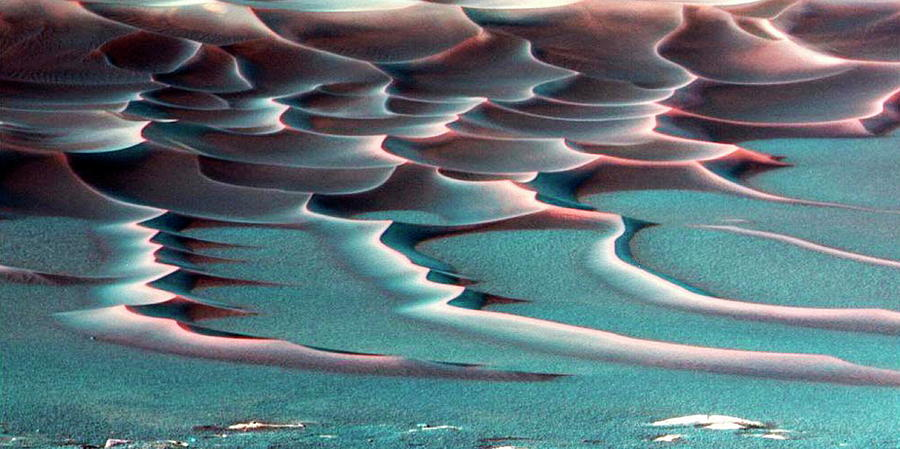 Sand Photograph - Martian Dunes by Nasa/science Photo Library