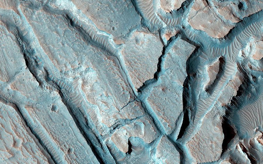 21st Century Photograph - Martian Lake Sediments by Nasa