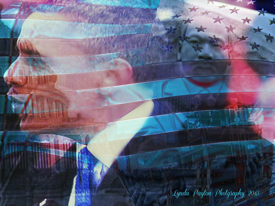 White House Prints Digital Art - Martin And Obama by Lynda Payton