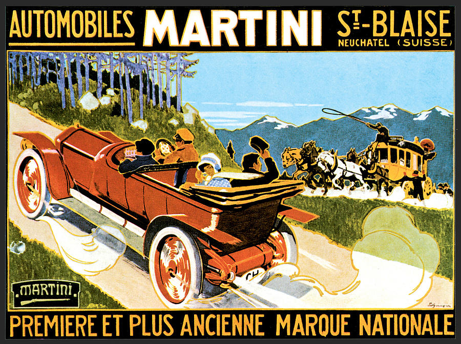 Martin Automobiles Photograph by Vintage Automobile Ads and Posters