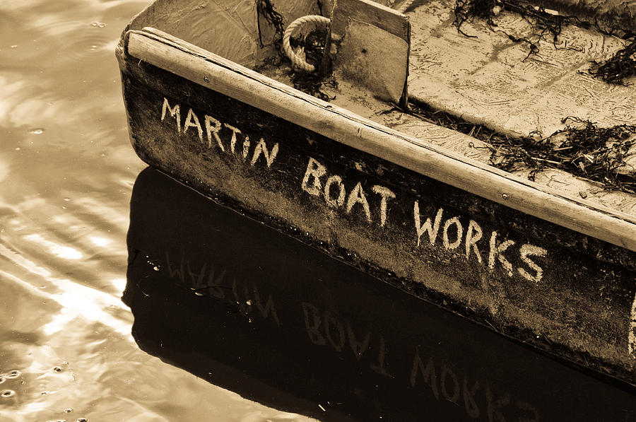 Seascape Photograph - Martin Boat Works by Mike Martin