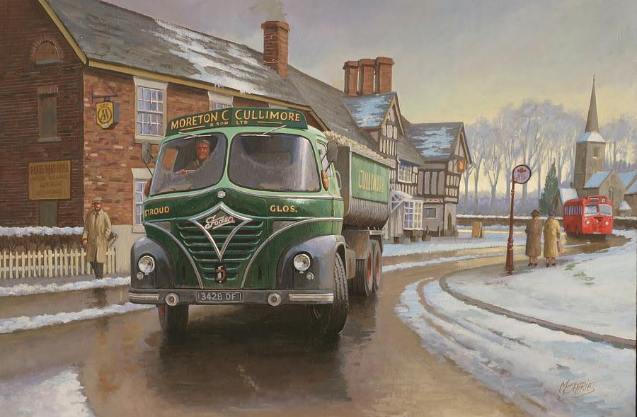 Painting For Sale Painting - Martin C. Cullimore Tipper. by Mike  Jeffries