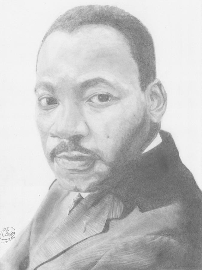 Martin Luther King Drawing By Olivia Schiermeyer