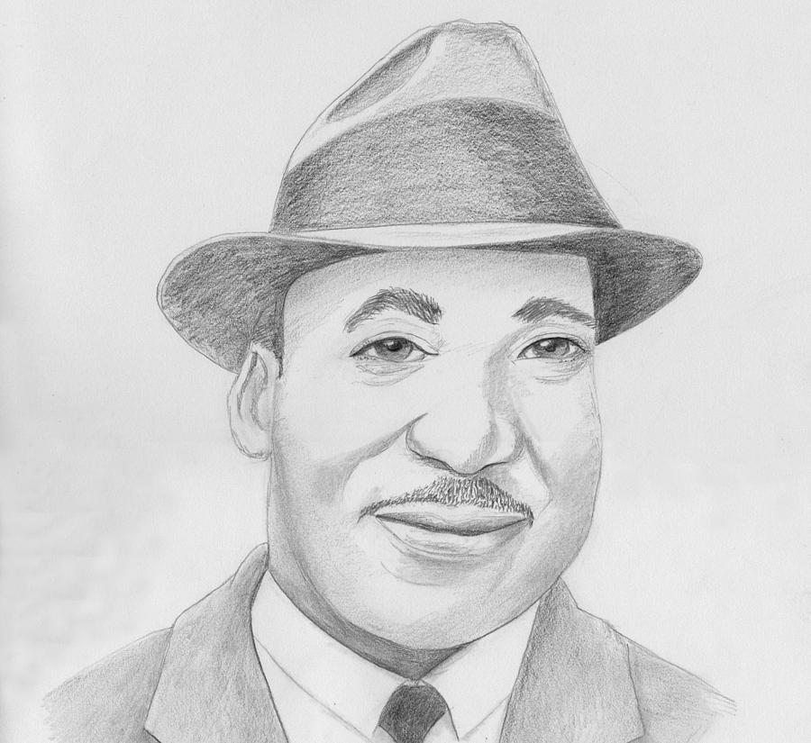 Martin Luther King Sketch Drawing by M Valeriano