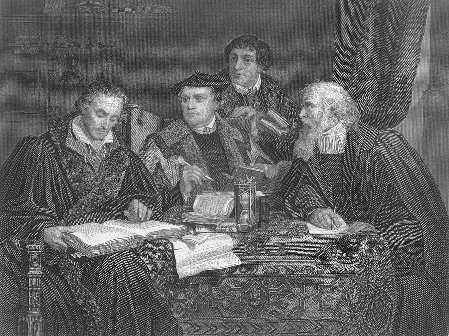 Luther Drawing - Martin Luther  The German Religious by Mary Evans Picture Library