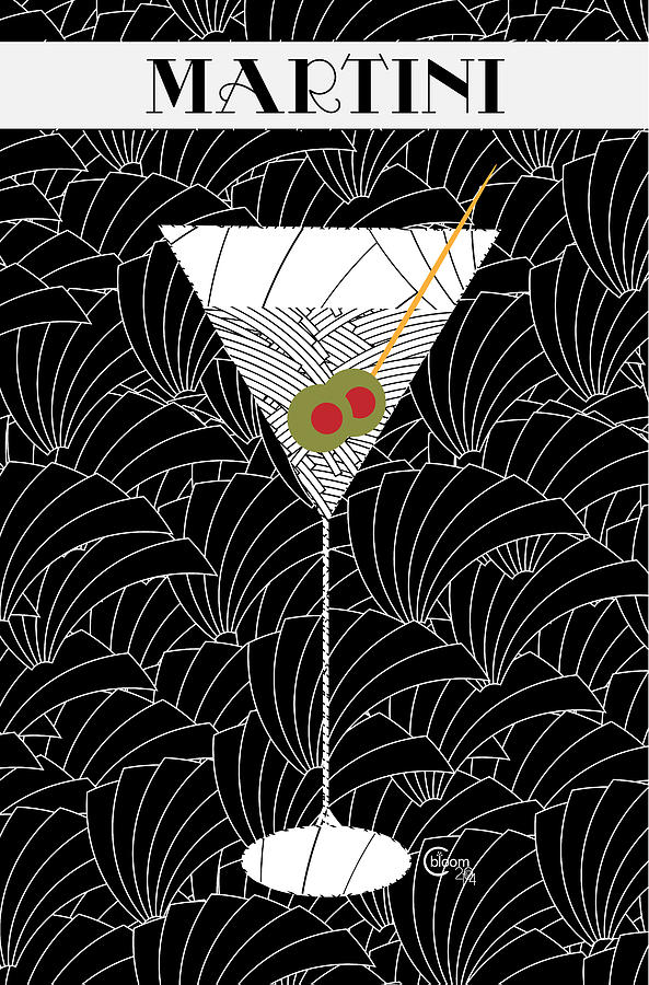 1920s Martini Cocktail Art Deco Swing   by Cecely Bloom