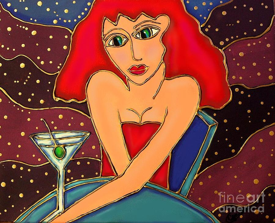 Cocktail Painting - Martini Dreams by Cynthia Snyder