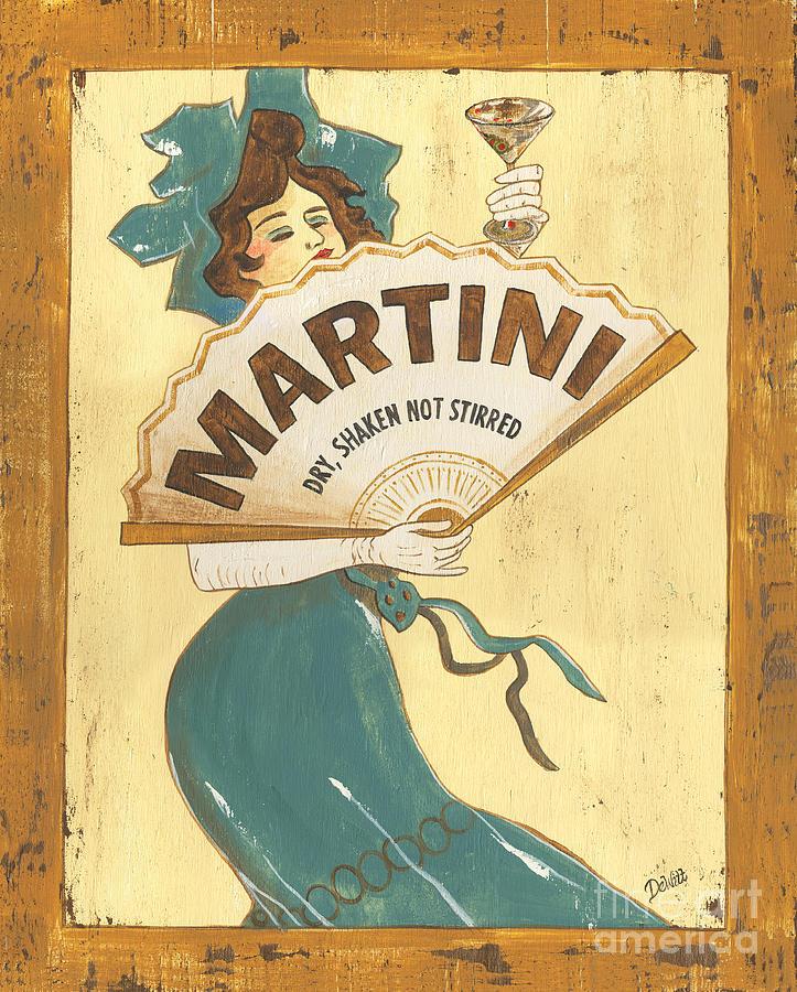 Martini Painting - Martini Dry by Debbie DeWitt