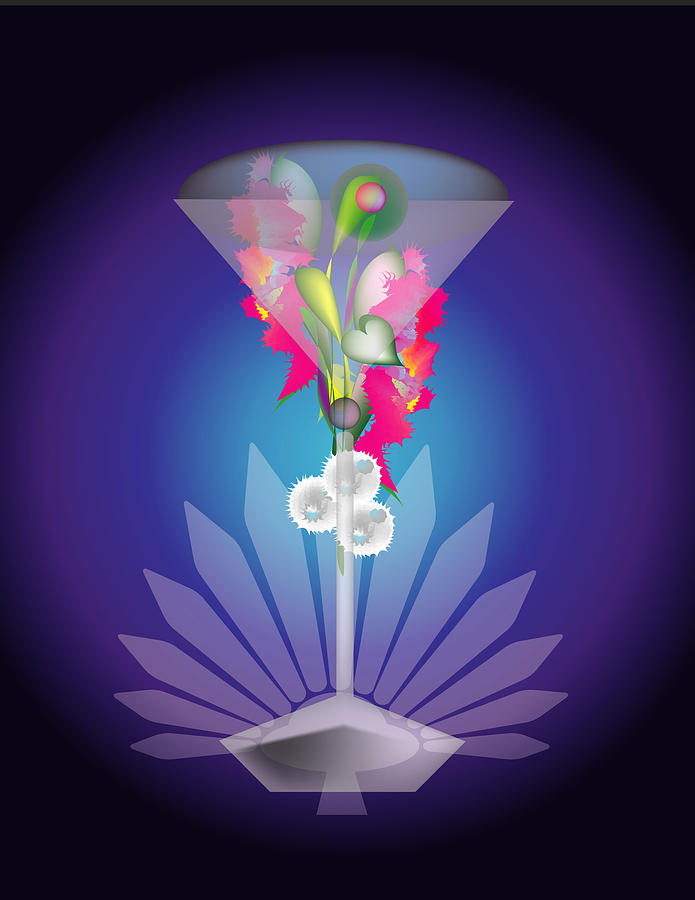 Martini Digital Art - Martini Flower by George Pasini