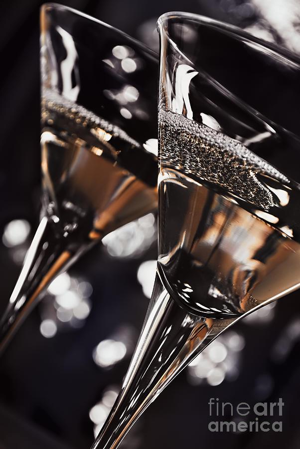 Cocktail Pyrography - Martini Glasses by Jelena Jovanovic