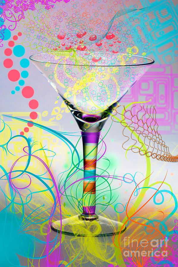 Glass Pyrography - Martini by Mauro Celotti