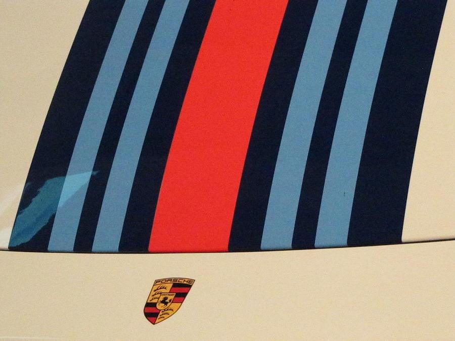 Porsche Photograph - Martini Porsche by Kelly Mezzapelle