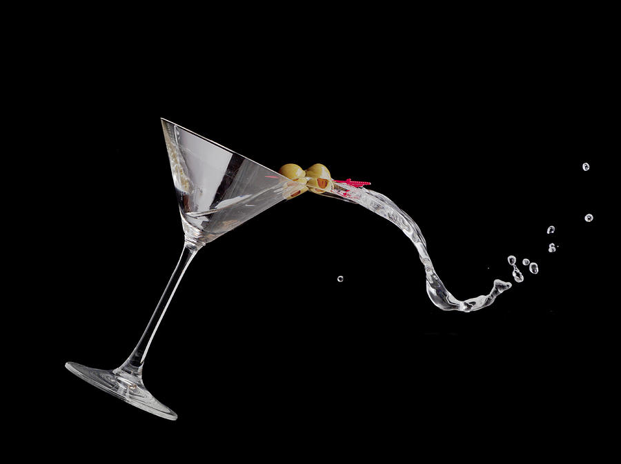 Drink Photograph - Martini Spill by Alexey Stiop
