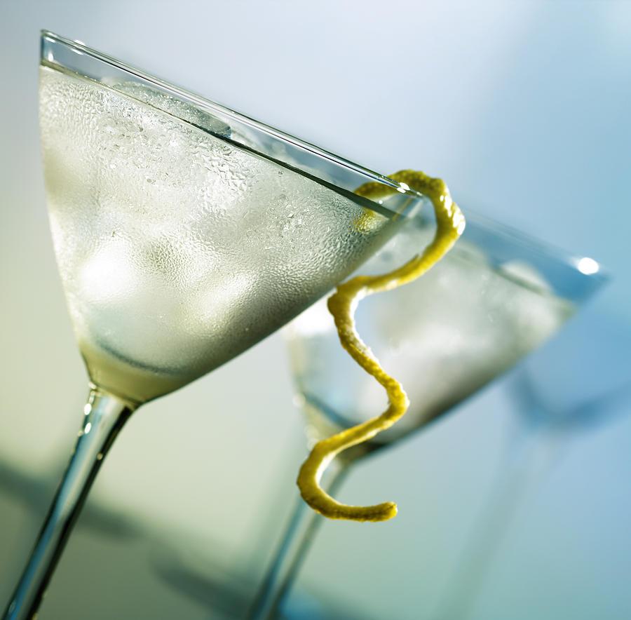 Cocktail Photograph - Martini With Lemon Peel by Johan Swanepoel
